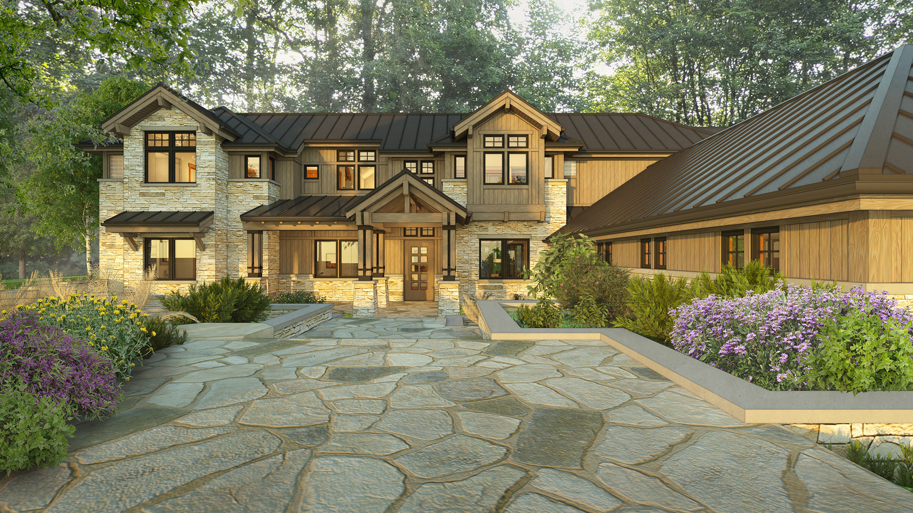 Josh white custom homes contemporary craftsman for Modern craftsman
